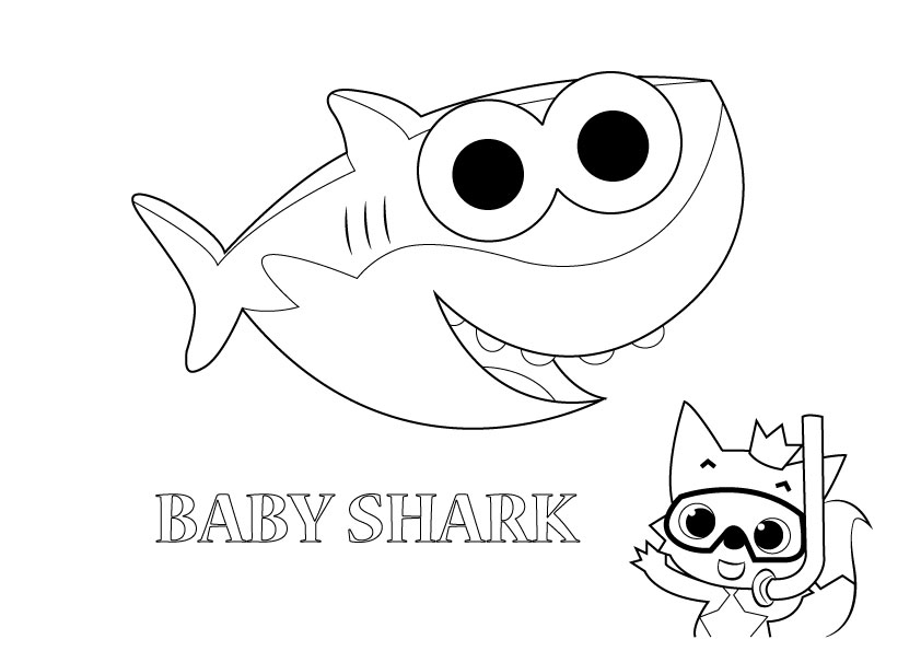 baby shark coloring images baby shark coloring sheet get coloring pages shark images coloring baby