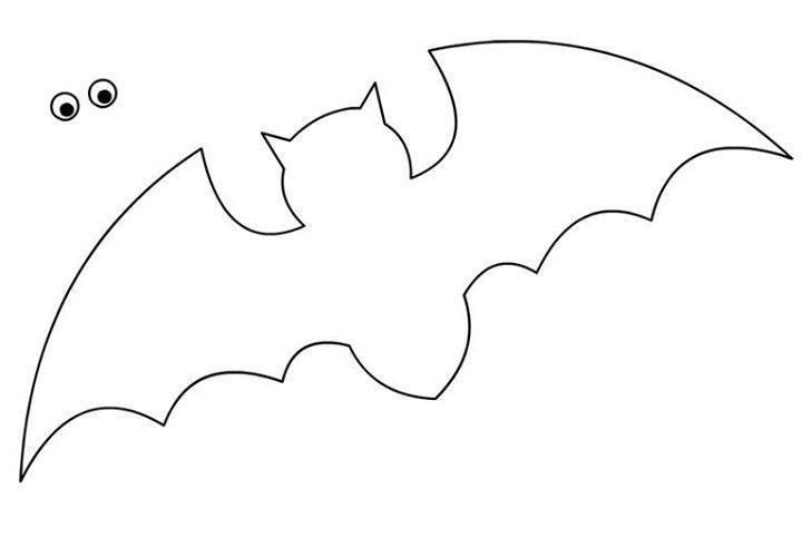 bat outline related coloring pageshalloween pumpkin black and whitebat outline bat