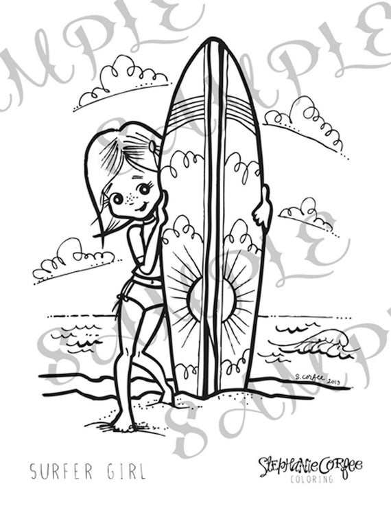 beach girl coloring pages barbie doll fashion show for beach wear coloring page coloring beach girl pages