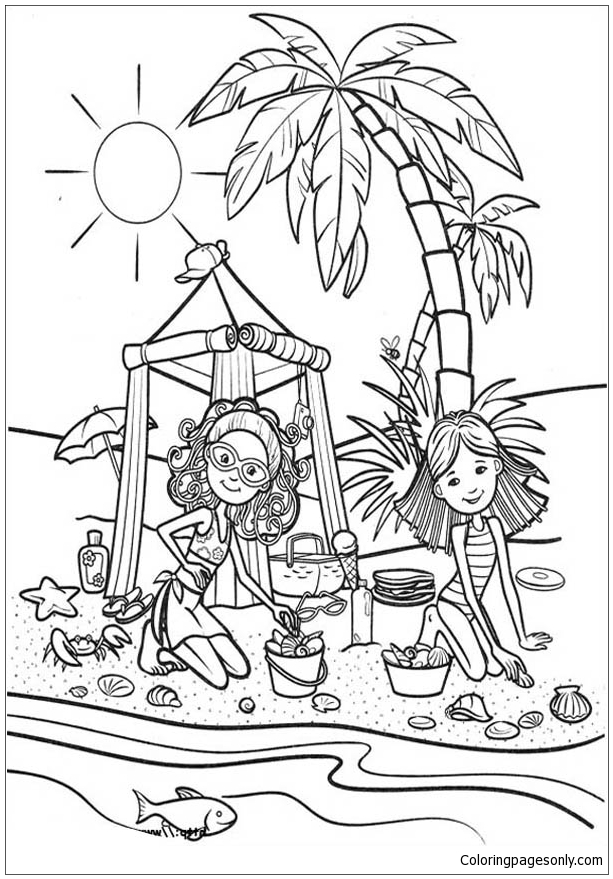 beach girl coloring pages colorfly freebie enjoy the summer beach time with us girl beach pages coloring