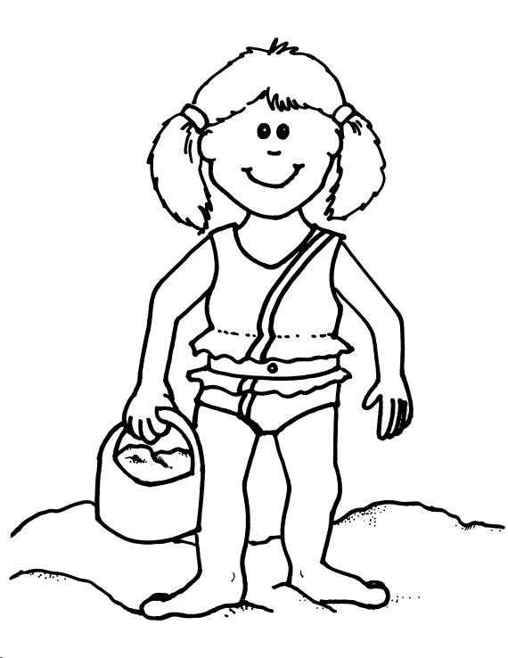 beach girl coloring pages hawaiian girl on the beach color page barbie coloring girl coloring beach pages