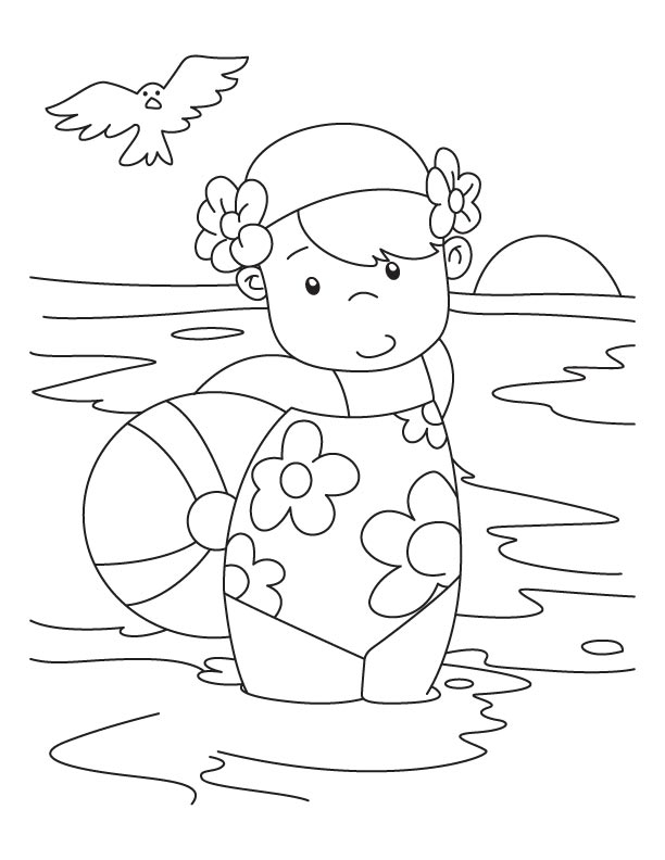 beach girl coloring pages lovely hula girl with flower on her hair coloring pages pages girl beach coloring