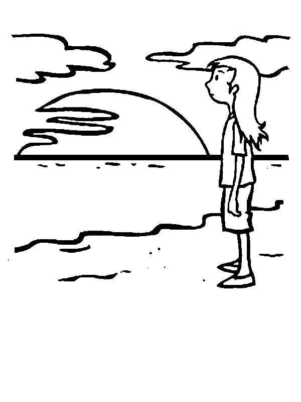 beach girl coloring pages summer coloring pages to print pages girl beach coloring