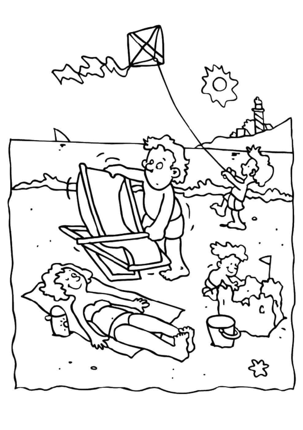 beach picture for coloring 25 free printable beach coloring pages picture coloring for beach