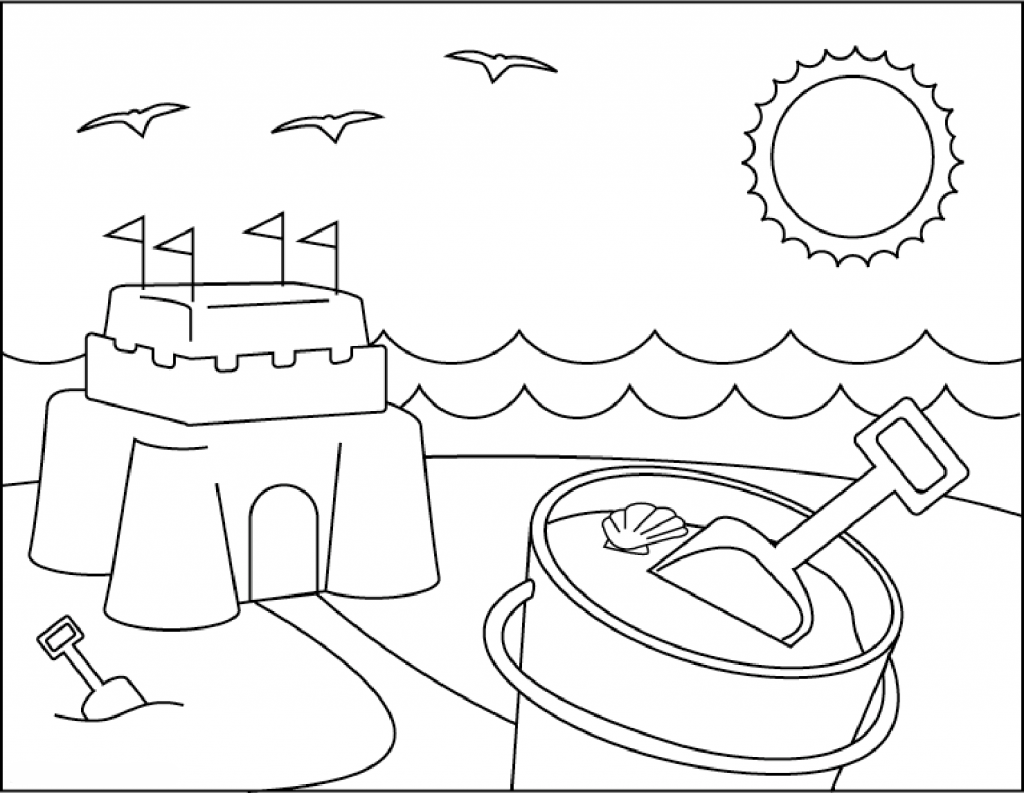 beach picture for coloring beach coloring pages beach scenes activities picture for coloring beach