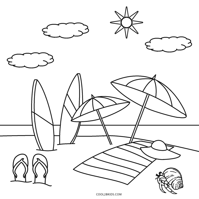 beach picture for coloring beach coloring pages free printable coloring home picture coloring beach for