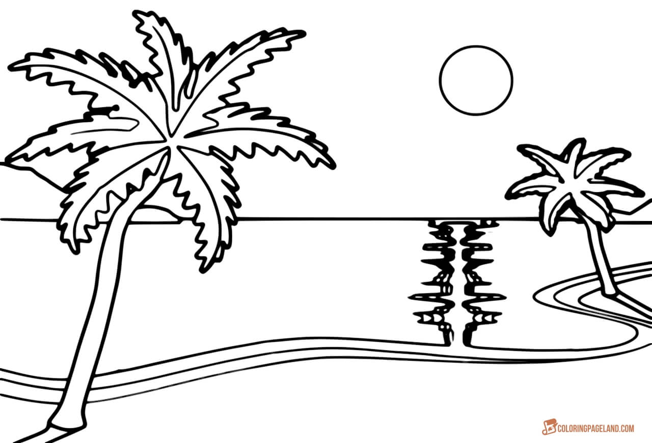 beach picture for coloring beach coloring pages free printable outline pictures for coloring picture beach