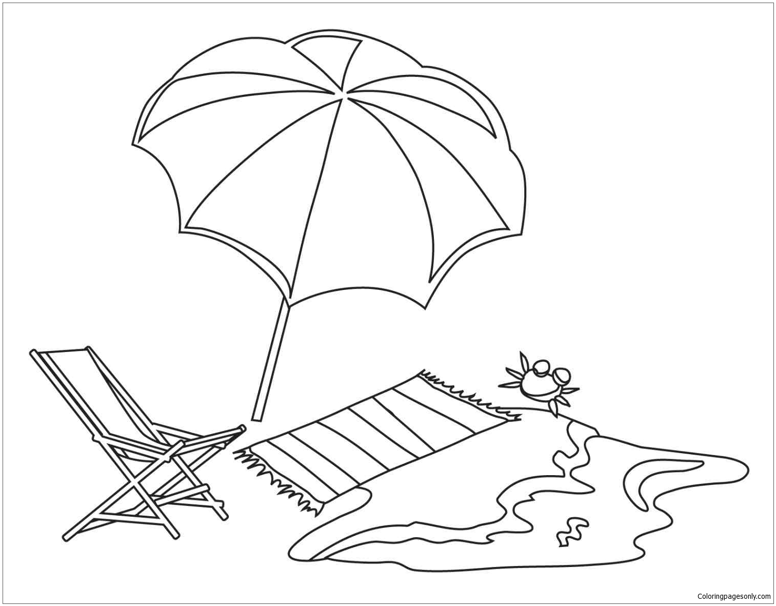 beach picture for coloring beach theme 1 coloring pages nature seasons coloring picture for beach coloring