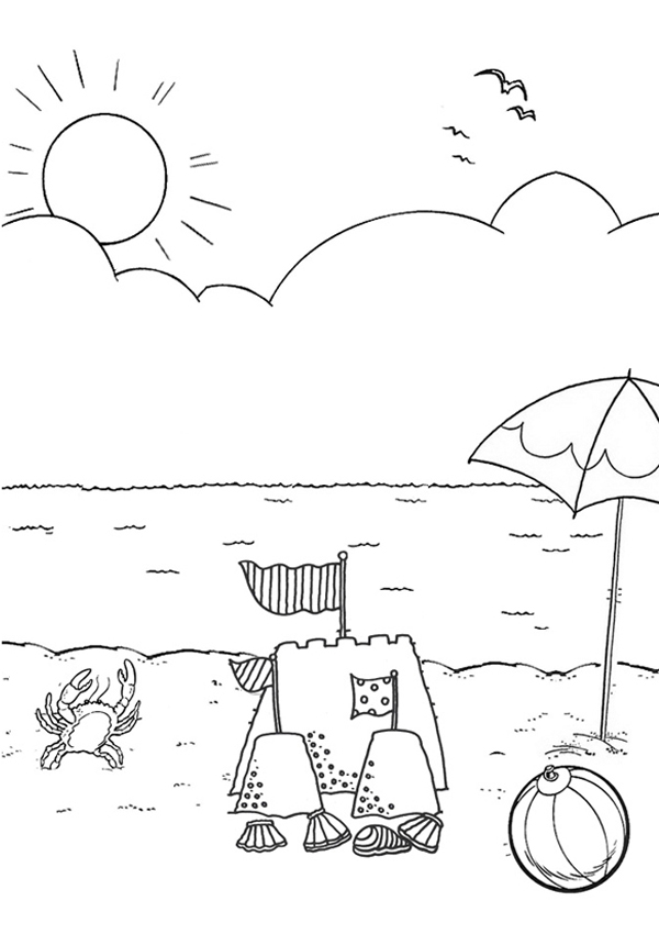 beach picture for coloring free printable beach coloring pages for kids beach coloring picture for