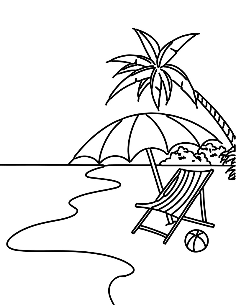 beach picture for coloring free printable beach coloring pages for kids coloring picture beach for