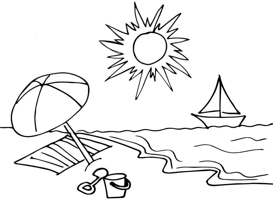 beach picture for coloring printable sunny day on the beach coloring page for both coloring picture beach for