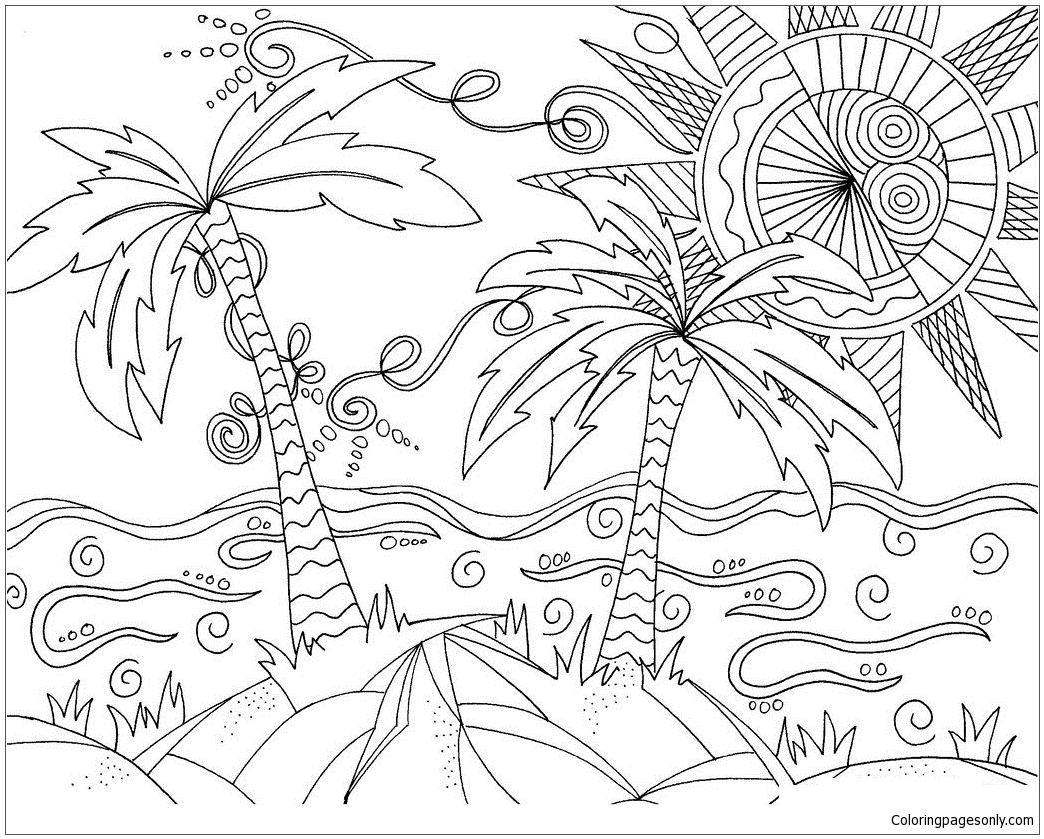beach picture for coloring sunny beach coloring pages nature seasons coloring coloring picture for beach