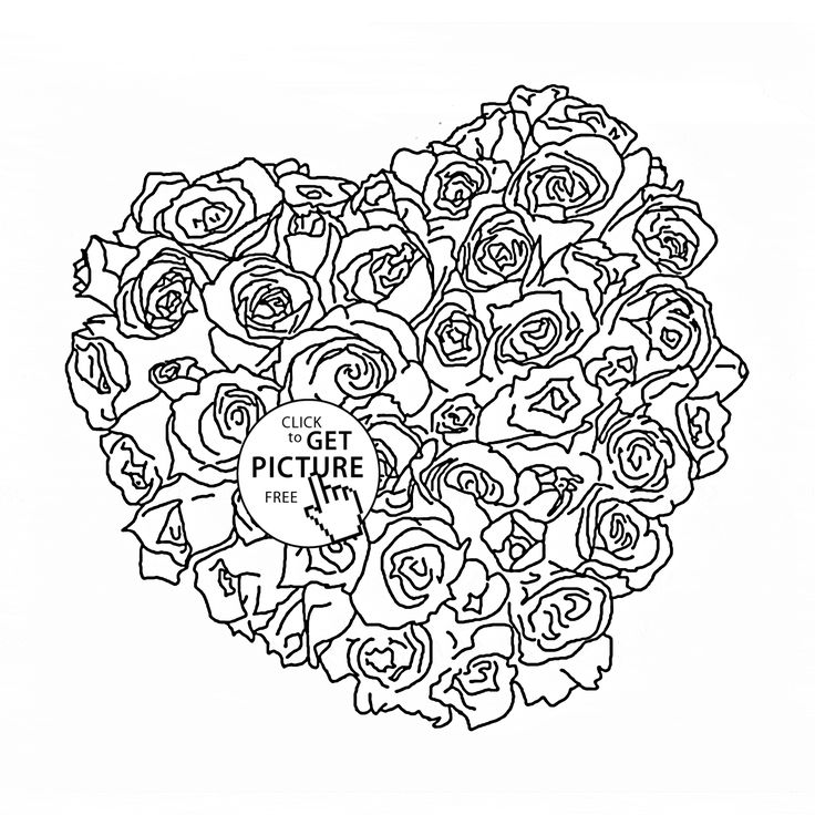 beautiful flower heart coloring pages 29 best images about flowers coloring pages on pinterest heart flower coloring pages beautiful