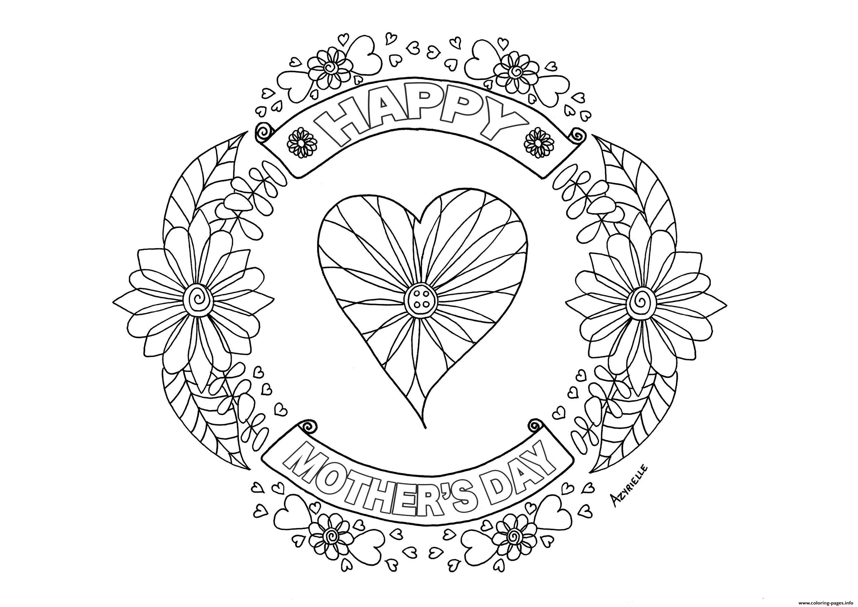 beautiful flower heart coloring pages adult mothers day heart by azyrielle coloring pages printable pages coloring heart beautiful flower