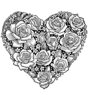 beautiful flower heart coloring pages amazingly exquisite free printable coloring pages of flowers heart coloring flower pages beautiful