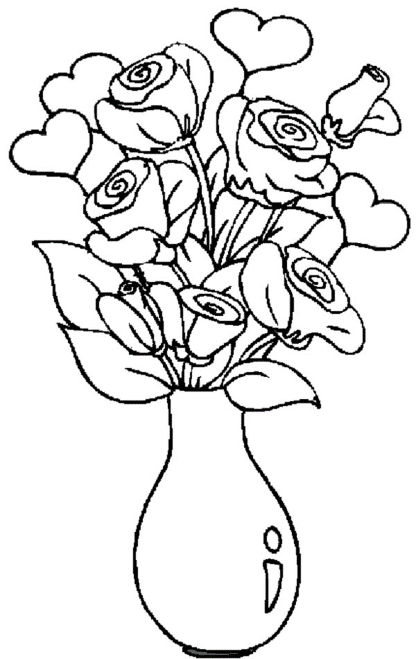 beautiful flower heart coloring pages beautiful heart decorated by flowers roses and li royalty flower coloring heart beautiful pages