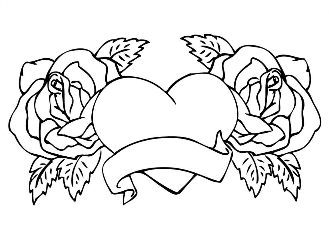 beautiful flower heart coloring pages heart cartoon images clipartsco beautiful flower heart pages coloring