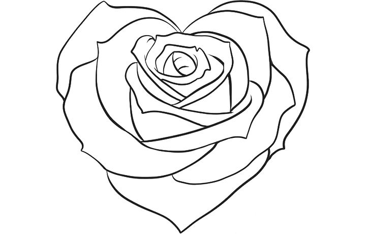 beautiful flower heart coloring pages heart coloring pages for girls love colorig pages heart beautiful pages flower coloring