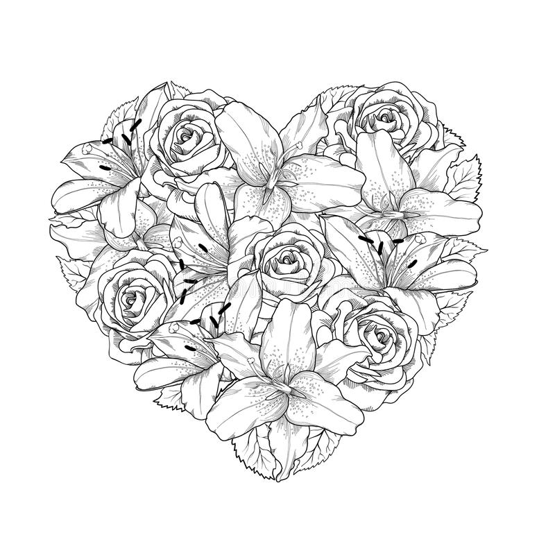 beautiful flower heart coloring pages heart flowers coloring heart coloring pages embroidery beautiful heart flower coloring pages