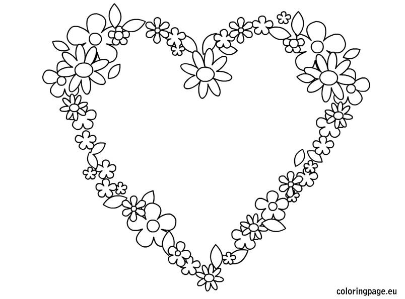 beautiful flower heart coloring pages hearts coloring page embroidery drawings pinterest pages coloring flower heart beautiful