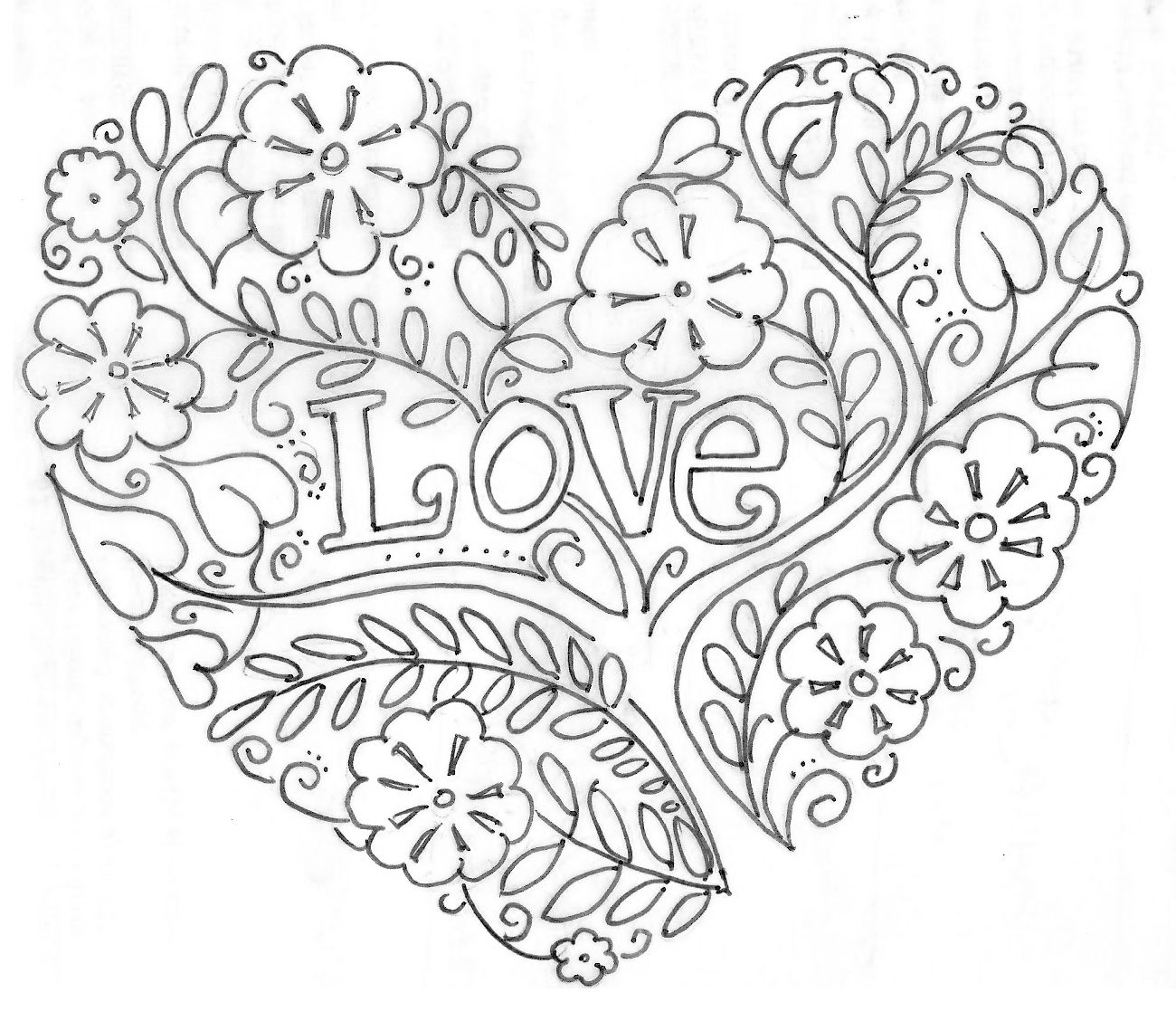 beautiful flower heart coloring pages how to draw a heart with a rose by dawn heart coloring heart pages beautiful coloring flower