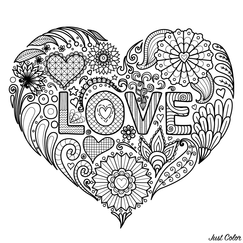 beautiful flower heart coloring pages love simple heart with flowers anti stress adult flower beautiful coloring pages heart