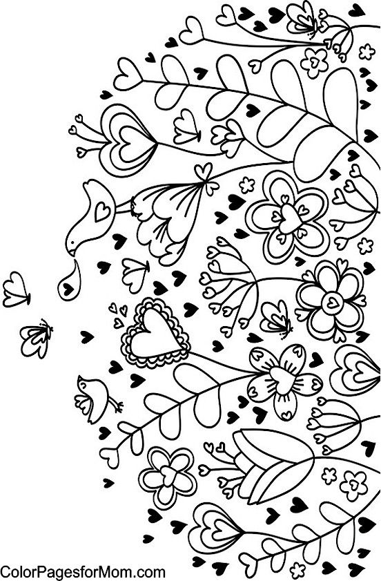 beautiful flower heart coloring pages roses coloring pages getcoloringpagescom heart beautiful flower coloring pages