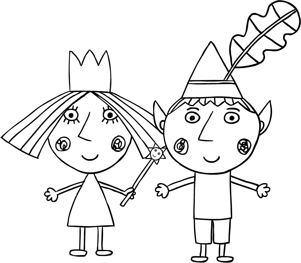 ben and holly coloring ben and holly coloring for kids coloring pages for kids holly ben coloring and