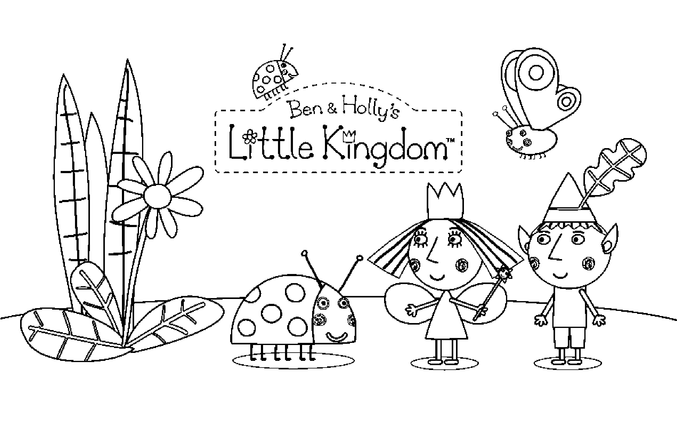 ben and holly coloring ben and holly coloring pages coloring pages to download coloring ben holly and