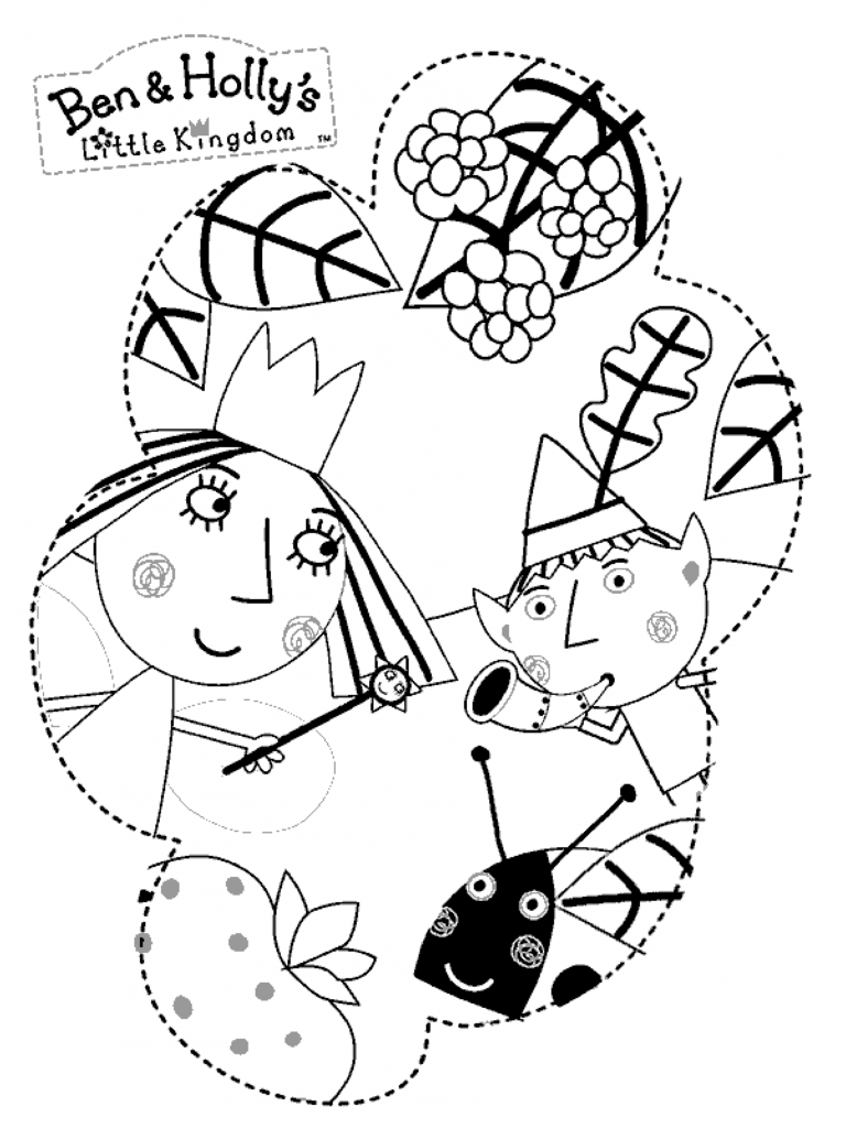 ben and holly coloring ben and holly coloring pages learny kids coloring and holly ben