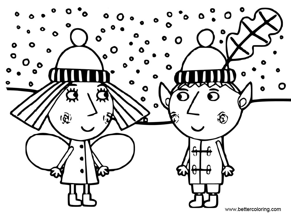 ben and holly coloring ben and holly coloring pages little kingdom free ben coloring holly and