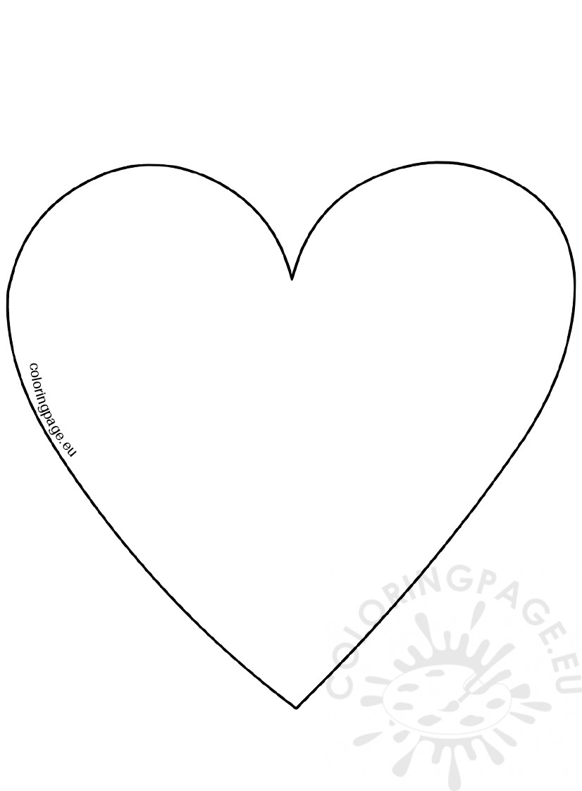 big heart coloring page big heart pages coloring pages big heart coloring page