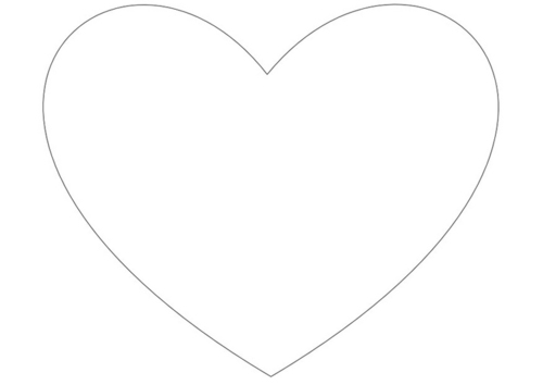 big heart coloring page heart shape coloring page getcoloringpagescom heart big coloring page