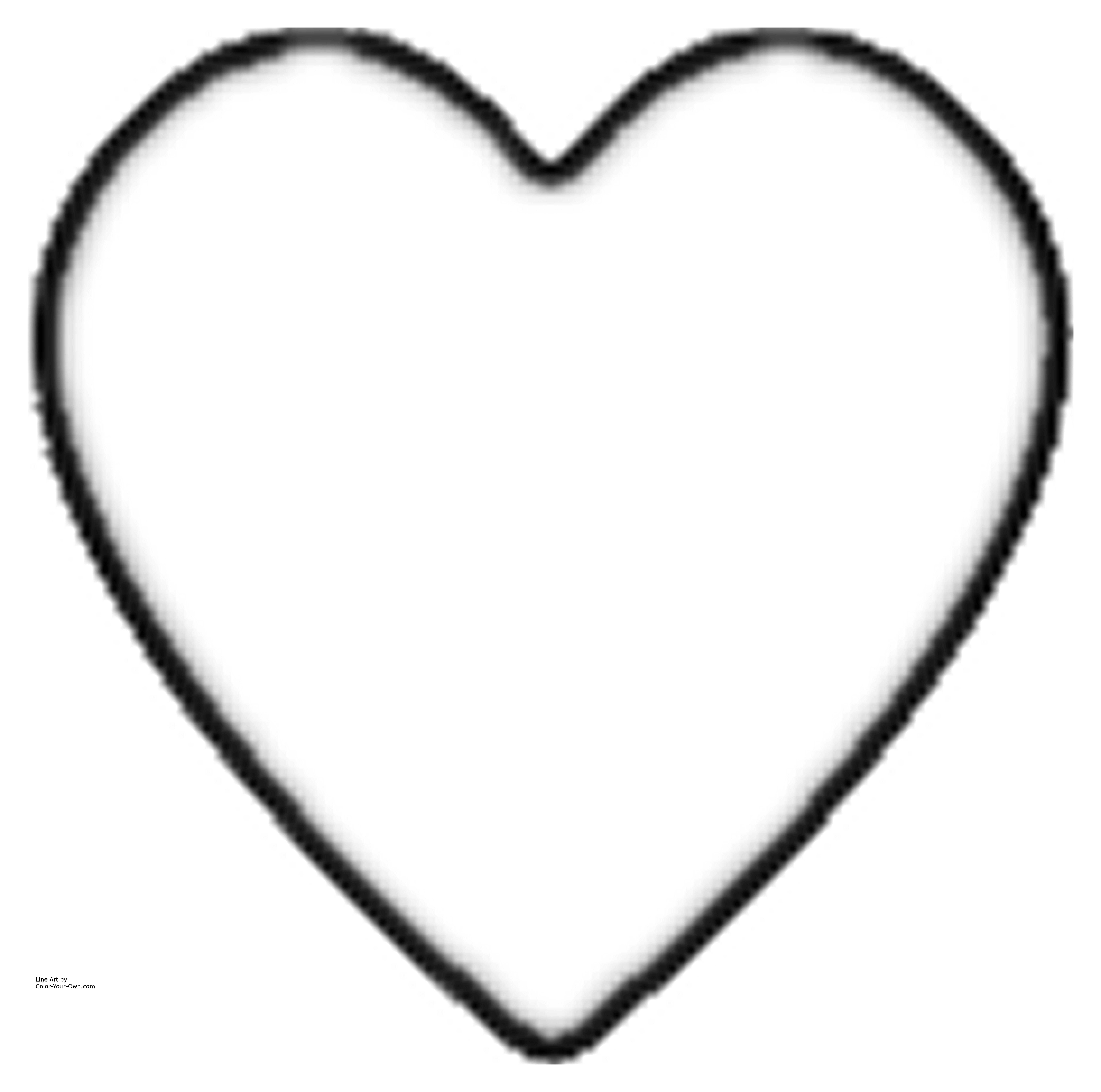 big heart coloring page large heart shape clipart best big coloring page heart