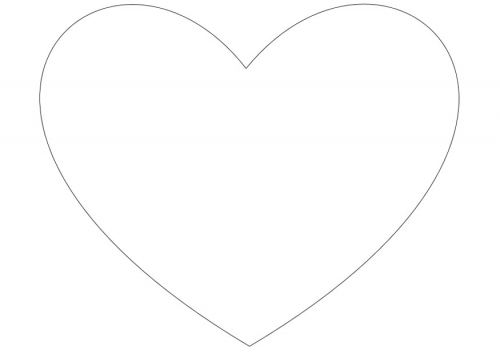 big heart coloring page large heart shape clipart best page coloring heart big