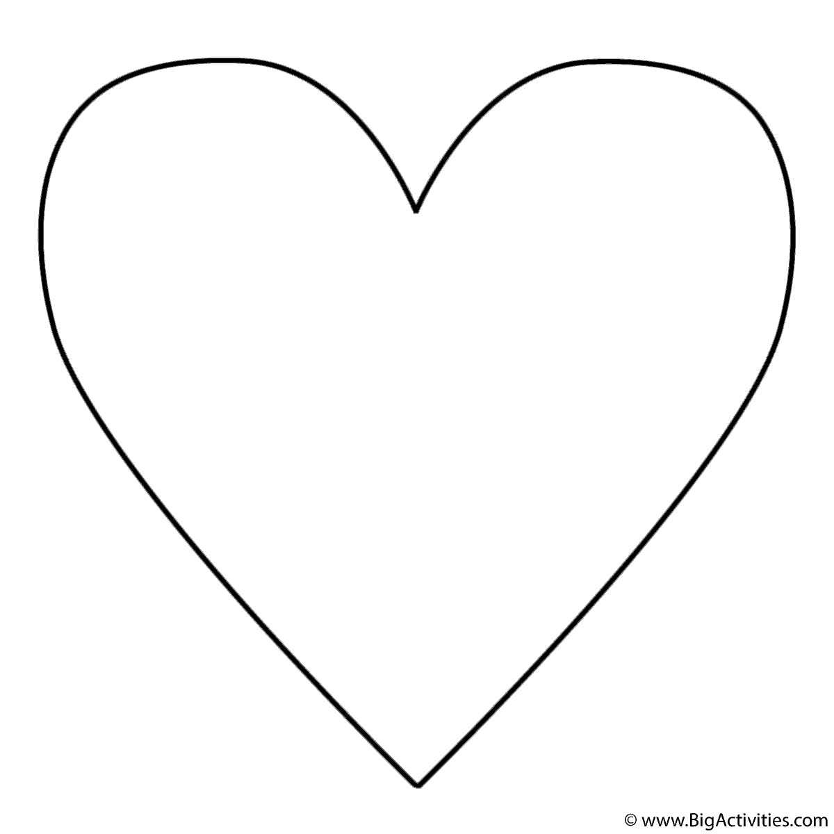 big heart coloring page large20heart colouring pages clipart best clipart best page heart coloring big