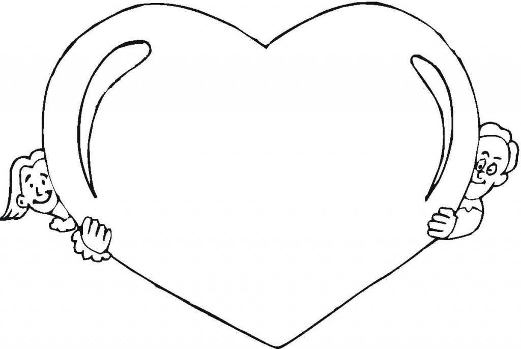 big heart coloring page simple heart coloring page valentine39s day heart page coloring big