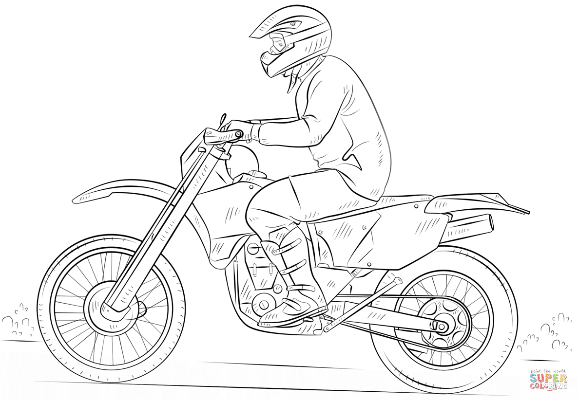 bike coloring pages sports bike drawing at getdrawings free download pages coloring bike