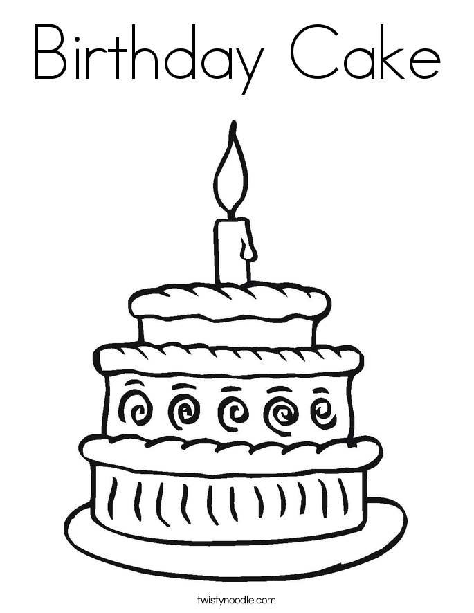 birthday cake coloring birthday cake and gifts coloring sheet for kids cake birthday coloring