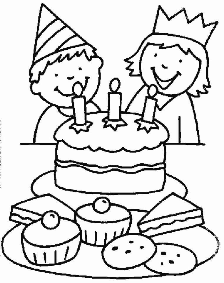 birthday cake coloring birthday cake coloring cake birthday coloring