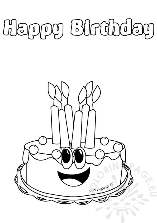 birthday cake coloring birthday cake coloring pages netart cake coloring birthday