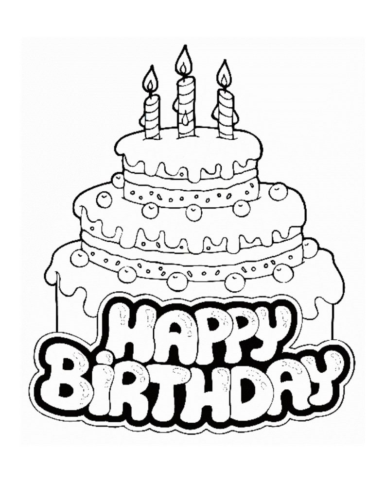 birthday cake coloring free printable birthday cake coloring pages for kids cake coloring birthday