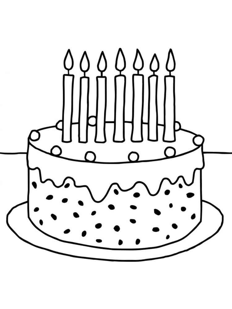 birthday cake coloring free printable birthday cake coloring pages for kids coloring cake birthday 1 1