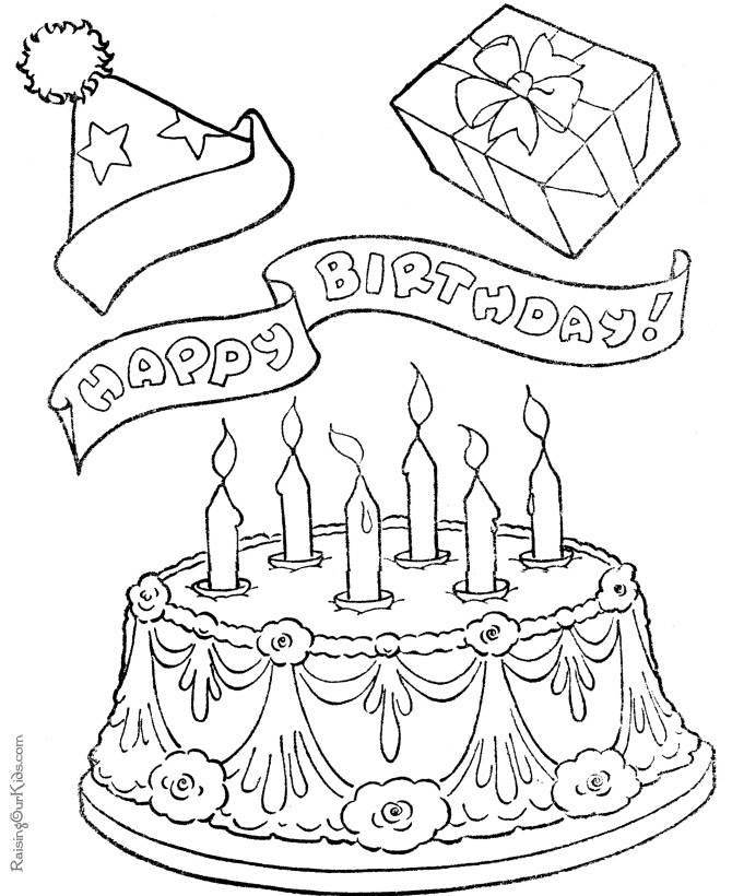 birthday cake coloring happy birthday cake coloring pages coloring home coloring cake birthday
