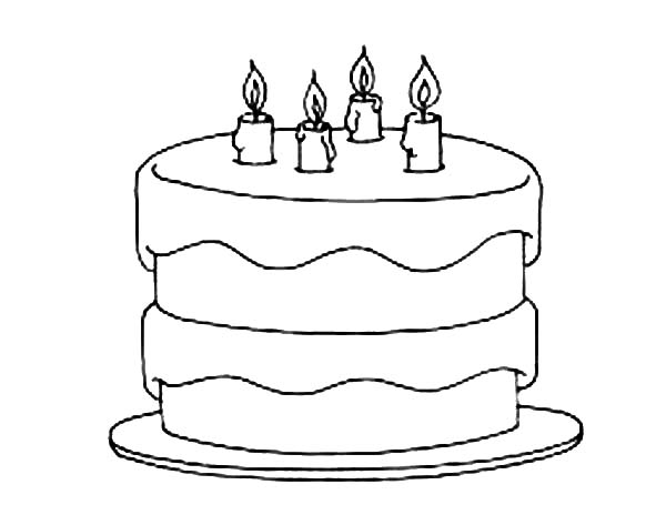 birthday cake coloring happy birthday coloring pages coloringrocks coloring birthday cake