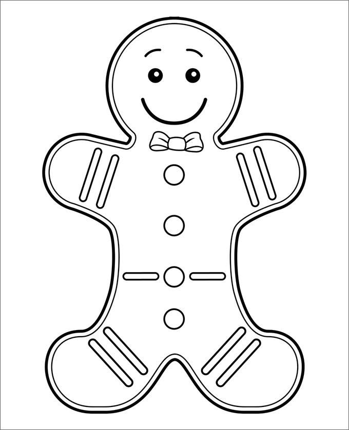 blank gingerbread man 15 gingerbread man templates colouring pages free man blank gingerbread
