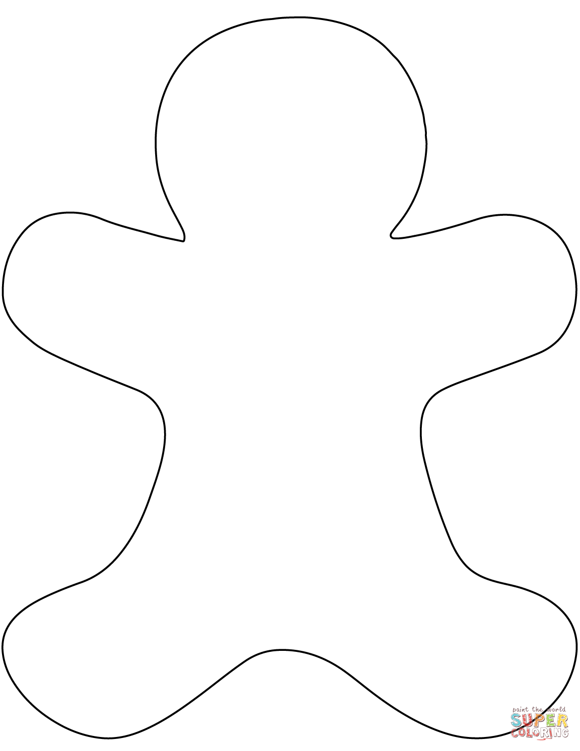 blank gingerbread man gingerbread man template clipart coloring page for kids man blank gingerbread