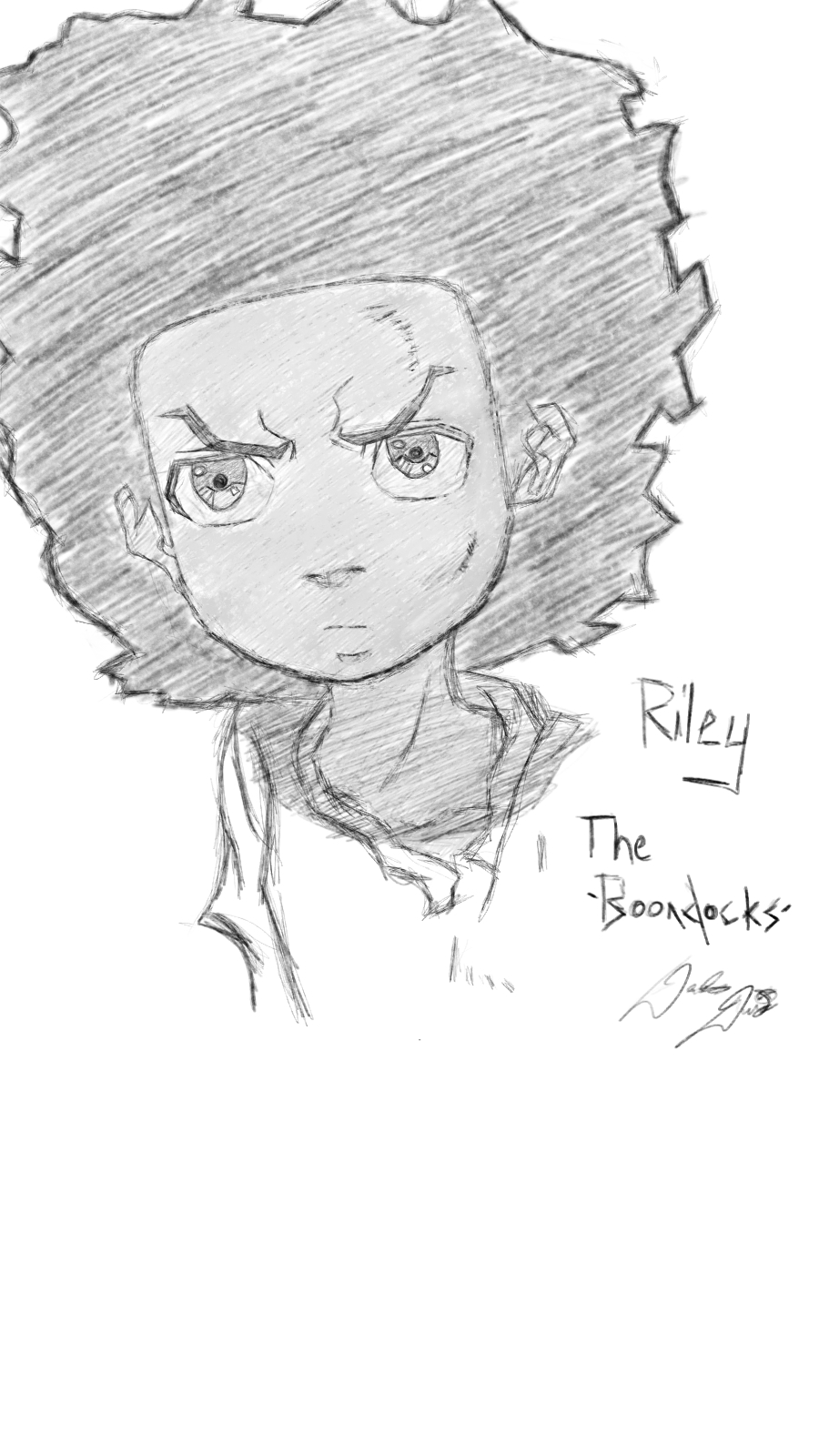 boondocks drawings riley boondocks by ethersstar on deviantart drawings boondocks