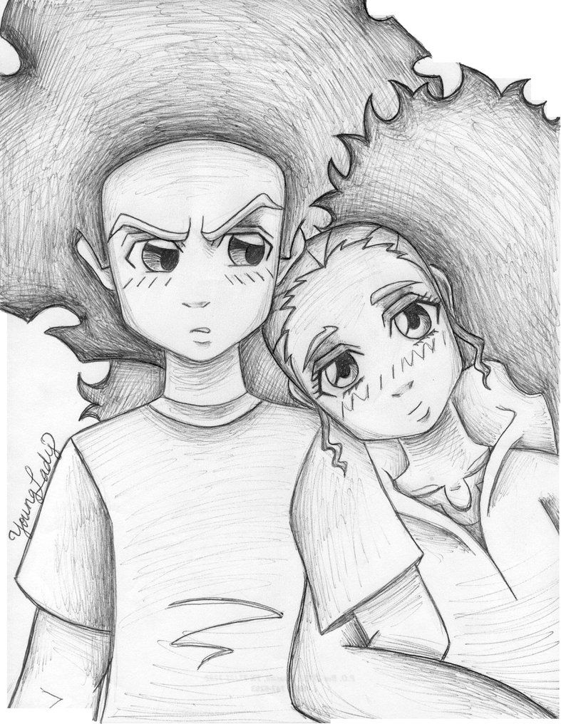 boondocks drawings stinkmeaner the boondocks by andres256 on deviantart drawings boondocks