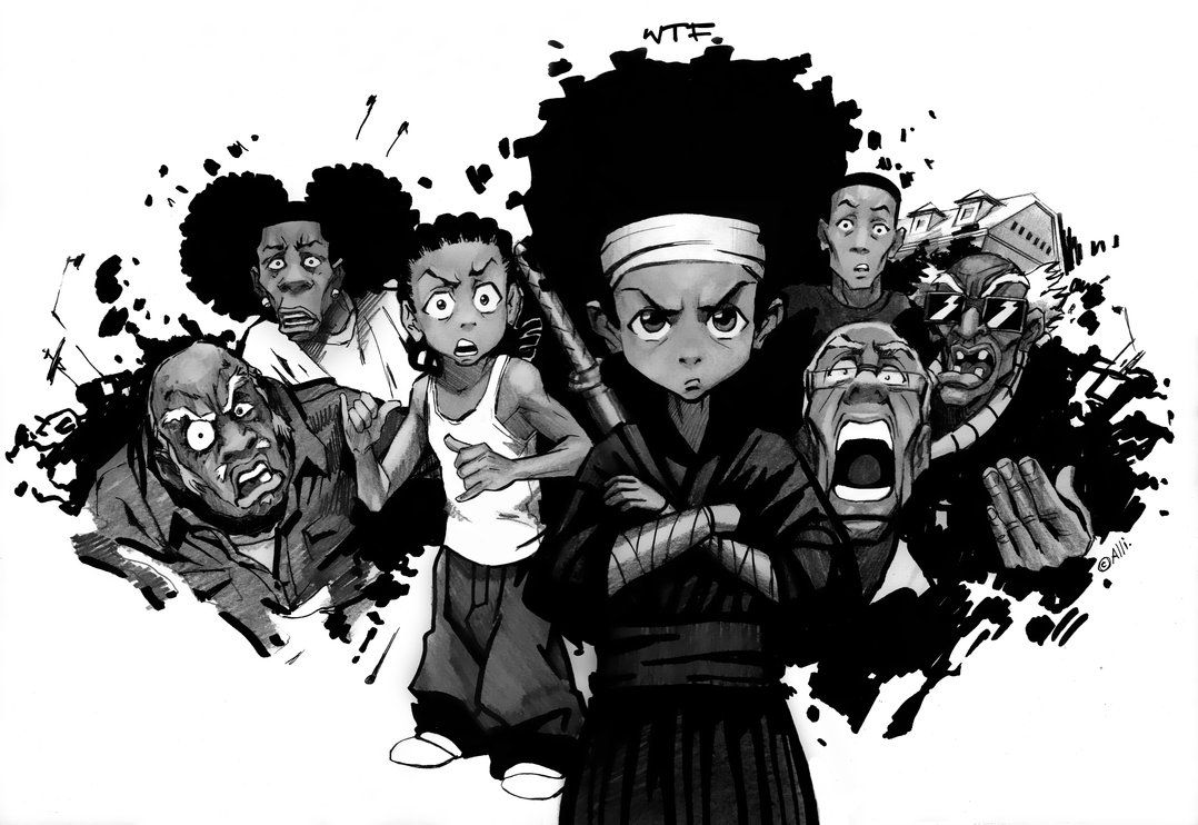 boondocks drawings the boondocks boondocks drawings cartoon wallpaper boondocks drawings